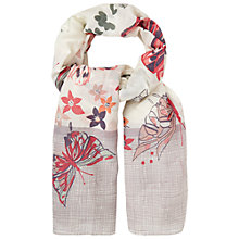Buy White Stuff Large Border Butterfly Scarf, Natural Online at johnlewis.com