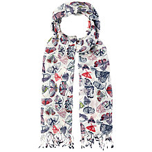 Buy White Stuff Flowerpress Butterfly Print Scarf Online at johnlewis.com
