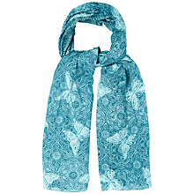 Buy White Stuff Tile Butterfly Scarf, Blue Online at johnlewis.com