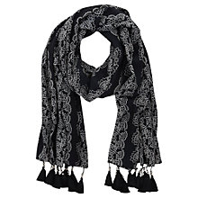Buy Mint Velvet Carola Scarf, Navy Online at johnlewis.com