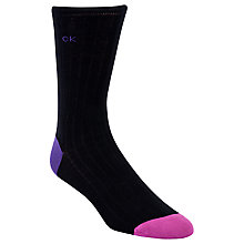 Buy Calvin Klein Giza Contrast Toe Ribbed Socks, One Size Online at johnlewis.com