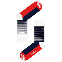 Buy Happy Socks Stripe Half Cotton Mix Socks, One Size Online at johnlewis.com