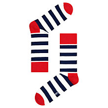 Buy Happy Socks Striped Ankle Socks, One Size, Red Online at johnlewis.com