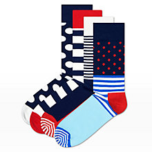 Buy Happy Socks Stripe Sock Gift Set, Pack of 4, One Size, Multi Online at johnlewis.com