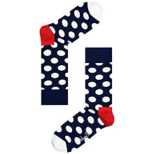 Buy Happy Socks Big Dot Socks, One Size, White Online at johnlewis.com