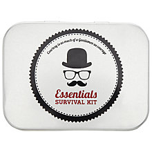 Buy Gentleman's Essentials Survival Kit, Silver Online at johnlewis.com