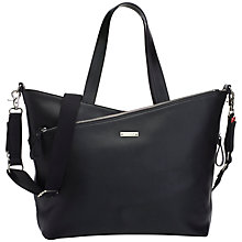 Buy Storksak Lucinda Leather Changing Bag, Black Online at johnlewis.com