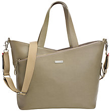 Buy Storksak Lucinda Leather Changing Bag, Taupe Online at johnlewis.com