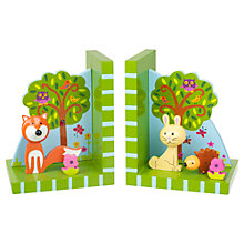 Buy Orange Tree Wooden Woodlands Bookends Online at johnlewis.com