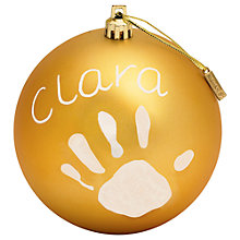 Buy Baby Art Christmas Bauble Kit, Matt Online at johnlewis.com