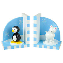 Buy Orange Tree Penguin & Polar Bear Wooden Bookends Online at johnlewis.com