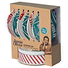 Buy Jamie Oliver Coasters and Storage Tin, Set of 6 Online at johnlewis.com