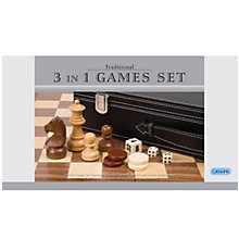 Buy Gibson & Son '3 in 1' Games Set Online at johnlewis.com
