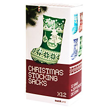 Buy Suck UK Christmas Stocking Gift Bag, Multi, Set of 12 Online at johnlewis.com