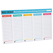 Buy Ginger Fox Weekly Checklist Pad Online at johnlewis.com