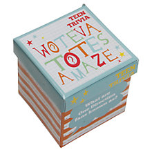Buy Talking Tables Teen Trivia Game Online at johnlewis.com