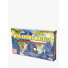 Buy Who Knows Where? – Global Location Guessing Board Game Online at johnlewis.com