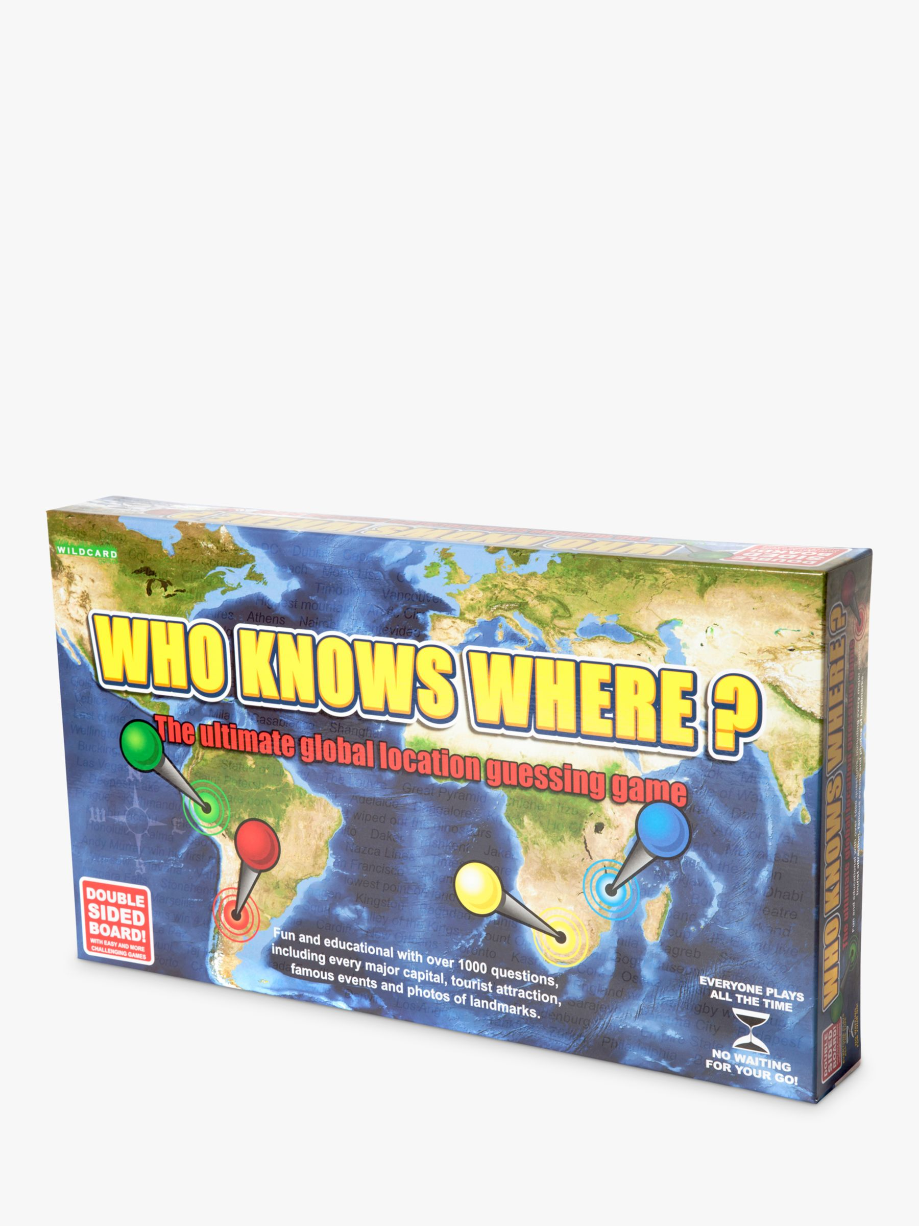 Wild Card Games Who Knows Where? - Global Location Guessing Board Game