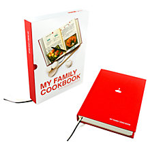 Buy My Family Cookbook, Red Online at johnlewis.com