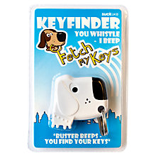 Buy Suck UK Fetch My Keys Finder Keyring, Black/White Online at johnlewis.com