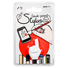 Buy Suck UK Touch Point Hand Stylus, White Online at johnlewis.com