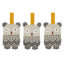 Buy Aroma Home Knitted Owl Fresheners, Set of 3 Online at johnlewis.com
