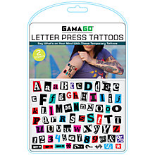Buy Gama Go Letter Press Tattoos Online at johnlewis.com