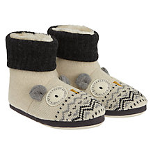Buy Aroma Home Knitted Owl Slipper Boots Online at johnlewis.com