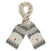 Buy Aroma Home Knitted Owl Scarf Online at johnlewis.com
