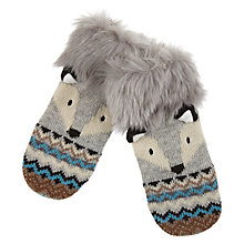 Buy Aroma Home Knitted Fox Mittens Online at johnlewis.com