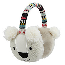 Buy Aroma Home Knitted Polar Bear Earmuffs Online at johnlewis.com