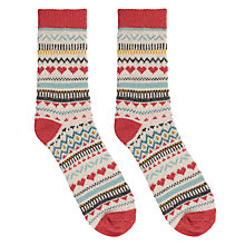 Buy Aroma Home Knitted Hearts Socks Online at johnlewis.com