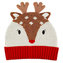 Buy Aroma Home Knitted Deer Hat, Red Online at johnlewis.com