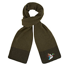 Buy Aroma Home Mallard Embroidered Knitted Scarf Online at johnlewis.com