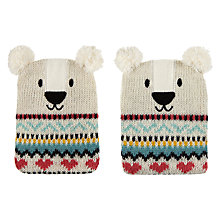 Buy Aroma Home Knitted Polar Bear Hand Warmers Online at johnlewis.com