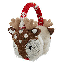 Buy Aroma Home Knitted Deer Earmuffs Online at johnlewis.com