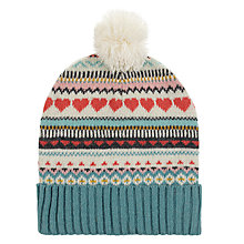 Buy Aroma Home Knitted Hearts Hat Online at johnlewis.com