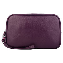 Buy Smith & Canova Leather Wash Bag, Imperial Online at johnlewis.com