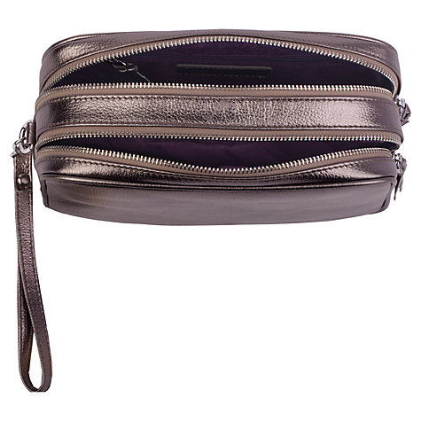 Buy Smith & Canova Leather Wash Bag, Pewter Online at johnlewis.com