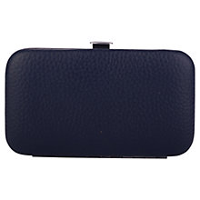Buy Smith & Canova Leather Manicure Set, Navy Online at johnlewis.com