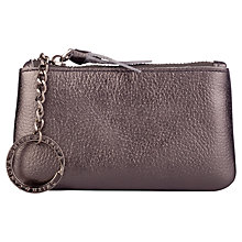 Buy Smith & Canova Leather Coin Purse, Pewter Online at johnlewis.com