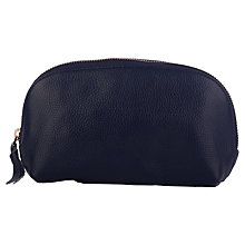 Buy Smith & Canova Leather Make-up Bag, Navy Online at johnlewis.com