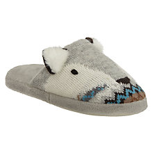 Buy Aroma Home Knitted Fox Slippers Online at johnlewis.com