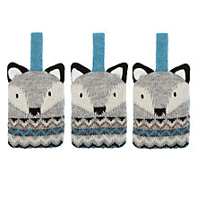 Buy Aroma Home Knitted Fox Fresheners, Set of 3 Online at johnlewis.com