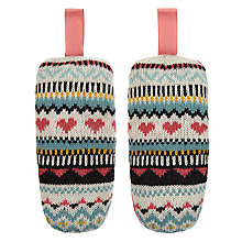 Buy Aroma Home Knitted Hearts Shoe Fresheners, Pair Online at johnlewis.com