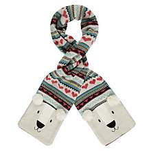 Buy Aroma Home Knitted Polar Bear Scarf Online at johnlewis.com