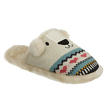 Buy Aroma Home Knitted Polar Bear Slippers Online at johnlewis.com