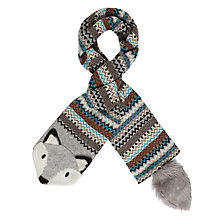 Buy Aroma Home Knitted Fox Scarf, Grey/Orange Online at johnlewis.com