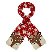 Buy Aroma Home Knitted Deer Scarf, Red Online at johnlewis.com