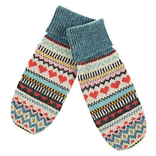 Buy Aroma Home Knitted Hearts Mittens Online at johnlewis.com